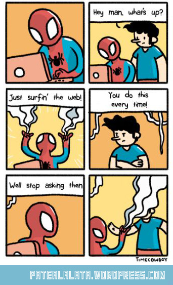 funny-cartoon-Spider-Man