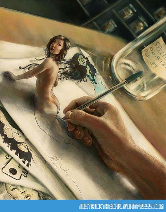 cool-drawing-girl-real