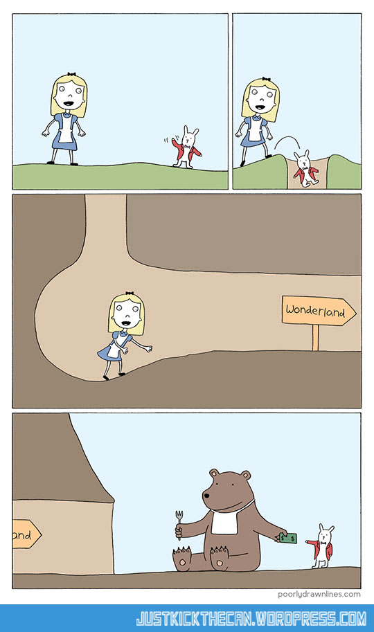funny-Alice-Wonderland-bear-cave