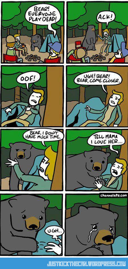 funny-bear-play-dead-cartoon-comic