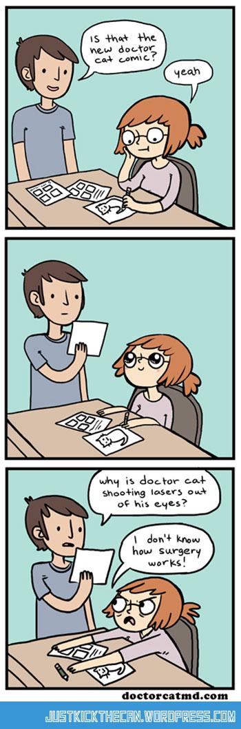 funny-Doctor-Cat-behind-scenes