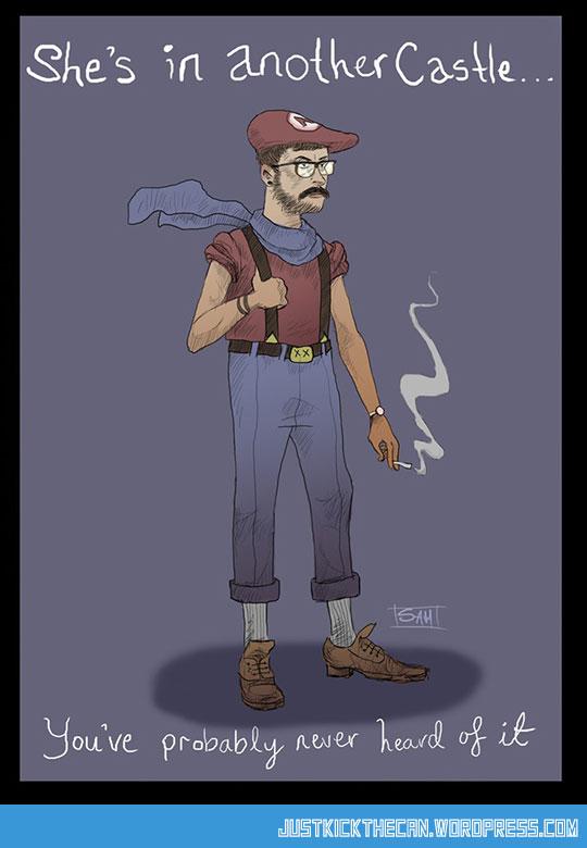 funny-Hipster-Mario-Bros-castle